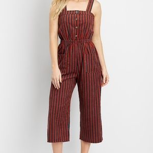brand new stripe corduroy jumpsuit
